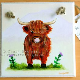 Highland Cow Plaque