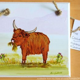 Highland Cow Plaque 02