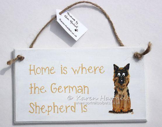 German Shepherd plaque