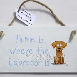 Labrador Yellow Plaque