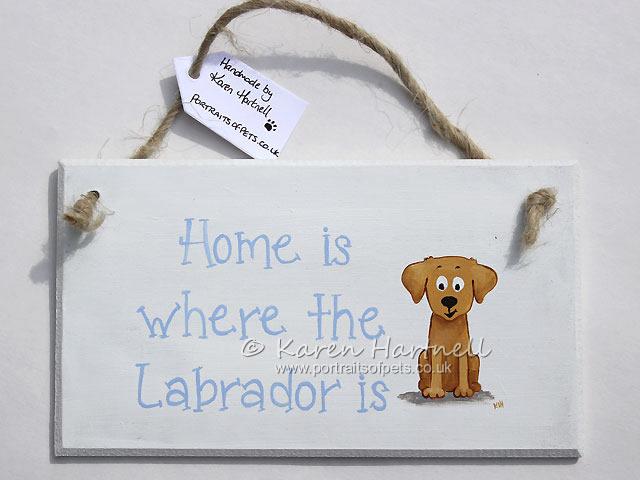 Labrador Yellow Plaque