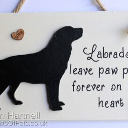 Black Labrador Plaque