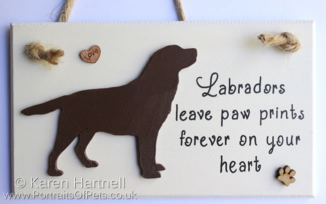 Chocolate Labrador Plaque