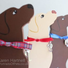 Wooden Freestanding Dogs
