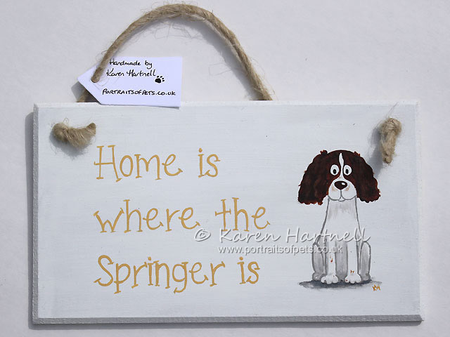 Springer Spaniel plaque