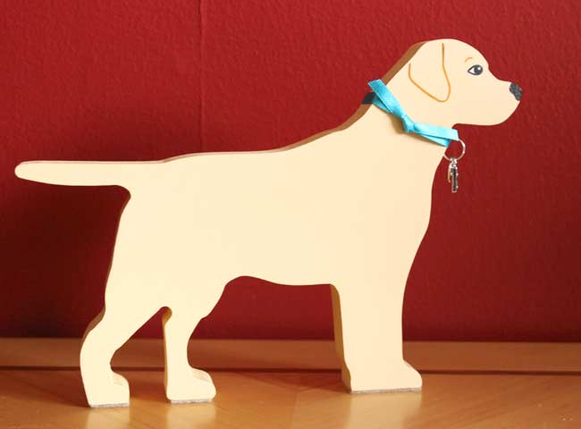 Standing Yellow Labrador