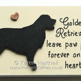 Golden Retriever Plaque