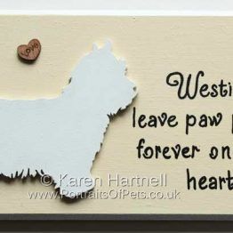 West Highland Terrier Plaque