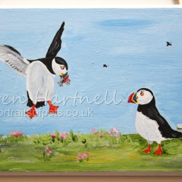 Puffin Isle Fish Supper Plaque