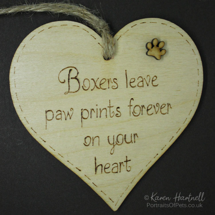 Boxers heart plaque