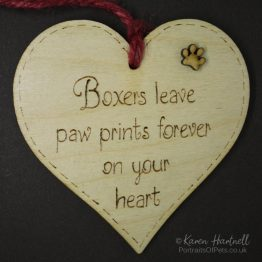 Boxers heart plaque