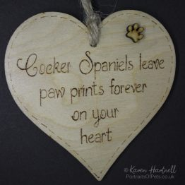 Cocker Spaniels heart plaque