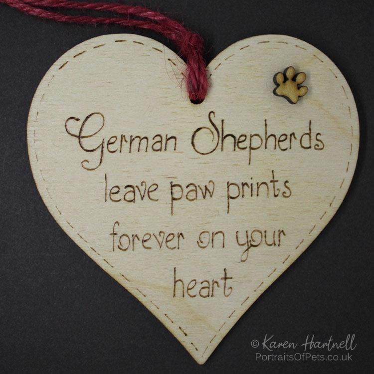 German Shepherds heart plaque