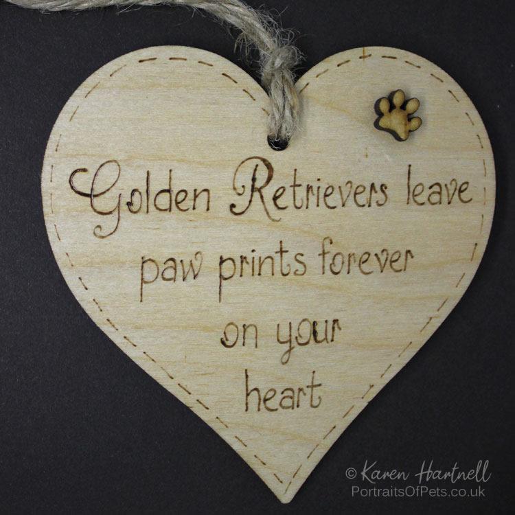 Golden Retrievers heart plaquert-golden-retriever-natu