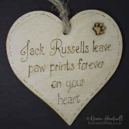 Jack Russells heart plaque