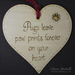 Pugs heart plaque
