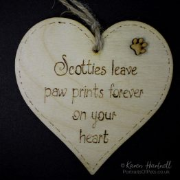Scotties heart plaque