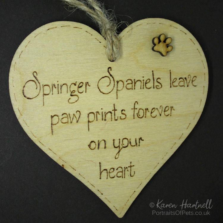 Springer Spaniels heart plaque