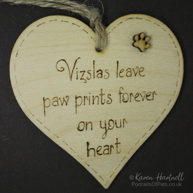 Vizslas heart plaque