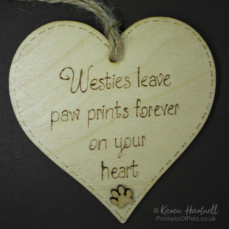 Westies heart plaque
