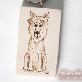 German Shepherd Dog Keyring