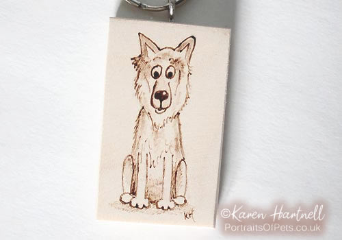 German Shepherd Dog Keyring