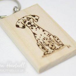 Dalmatian Keyring