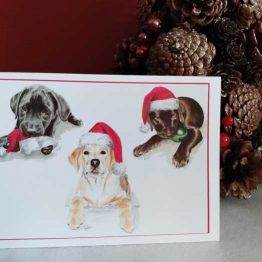 Labrador Puppies Christmas Cards
