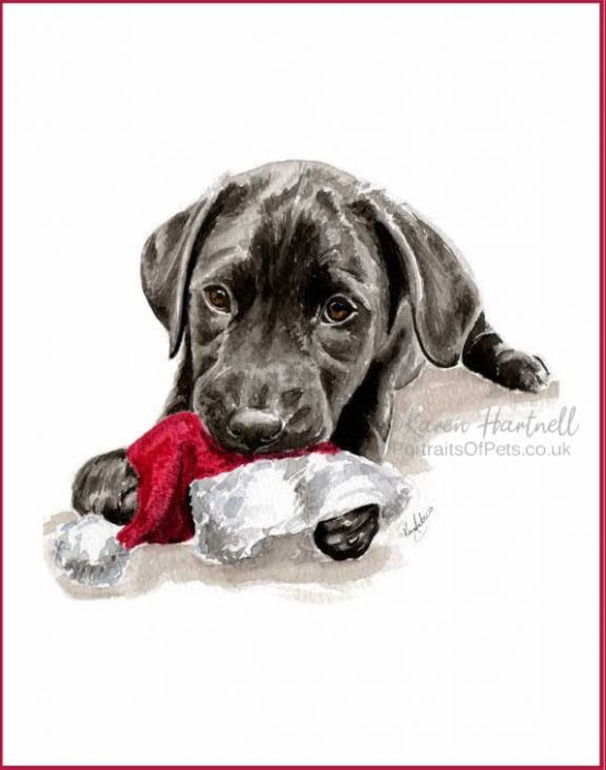 Black Labrador Puppy Christmas Cards