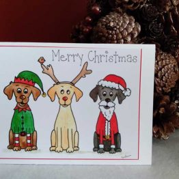 Cartoon Labrador Christmas Cards