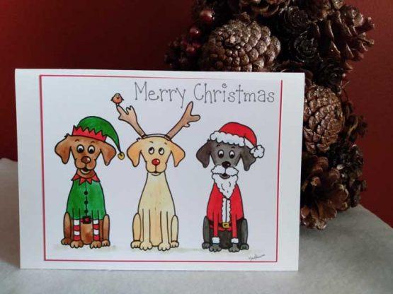 Cartoon Labrador Christmas Cards