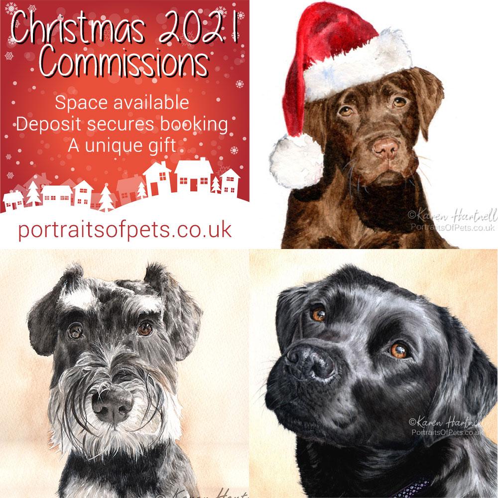 Christmas 2021 Pet Portrait Commissions